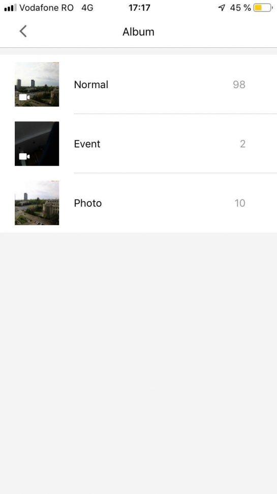Aplicatia Xiaomi 70 MAI - ecran Album