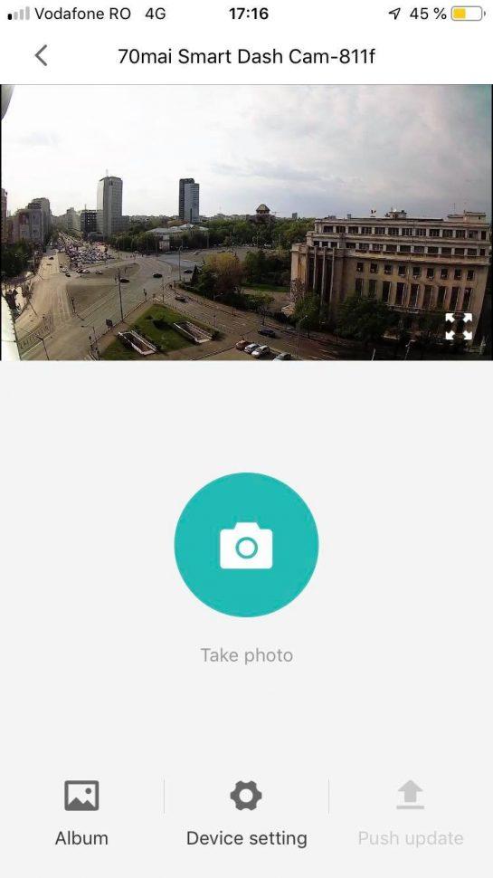 Aplicatia Xiaomi 70 MAI - ecran principal