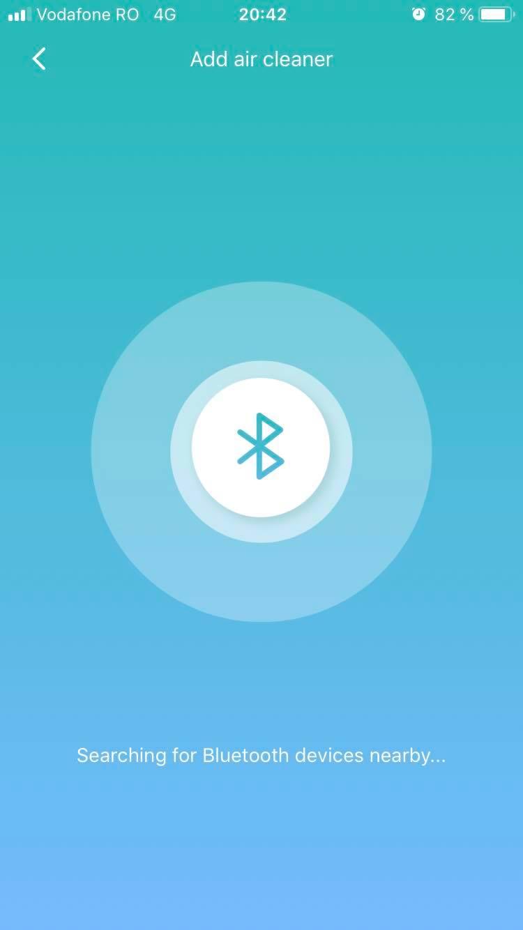 Căutarea Bluetooth a dispozitivului