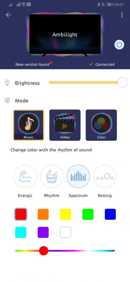 mod music cu alegere de culori